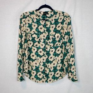 Who What Wear Floral Button Down Blouse Size S